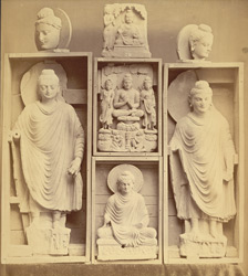 Collection of statues of Buddha, from Jamal-Garhi. 1003973